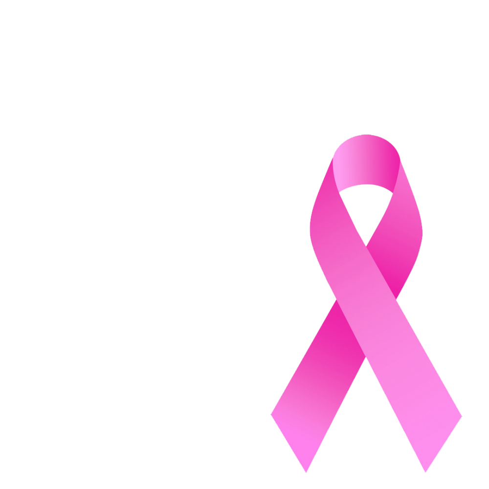 Breast cancer support ribbon