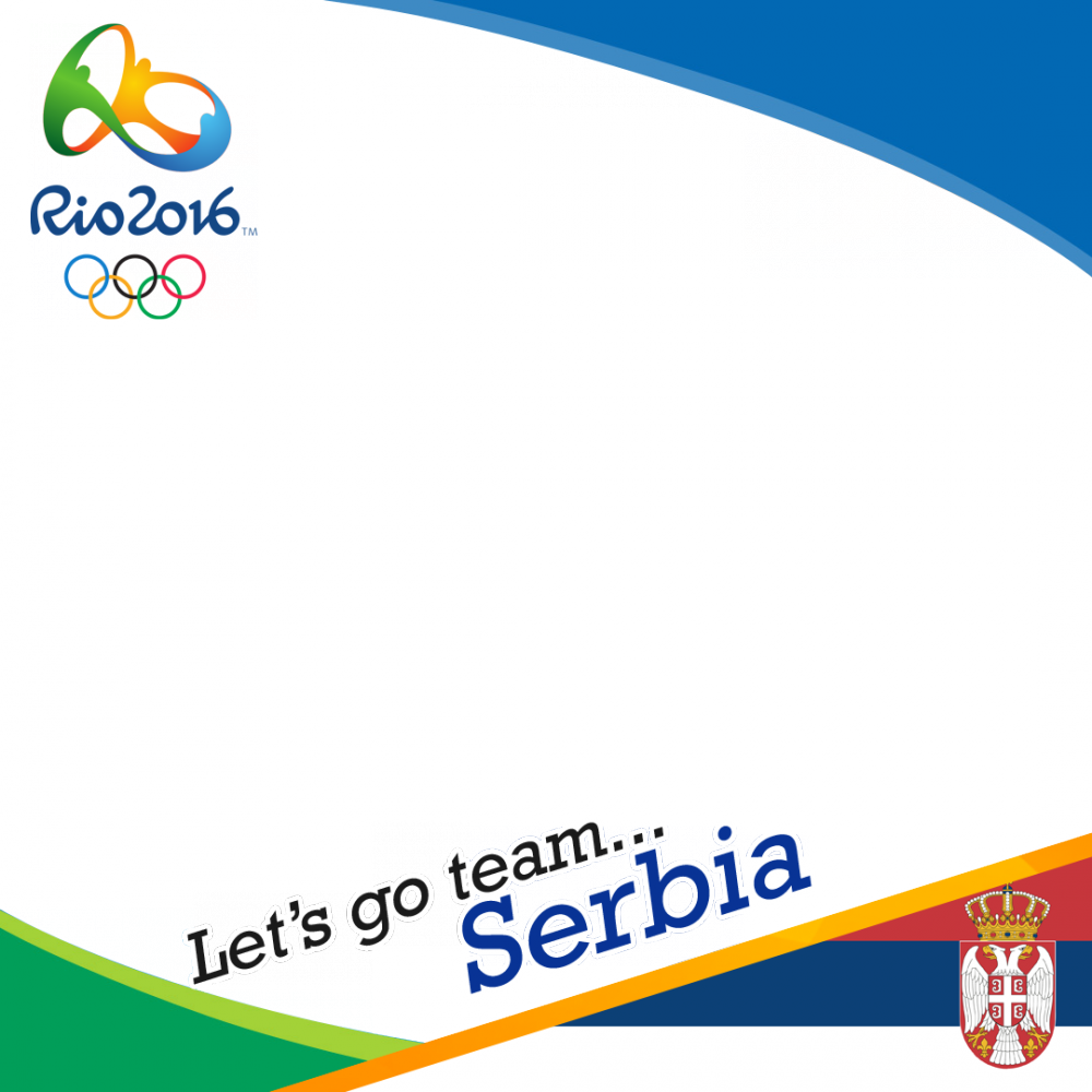 Serbia Rio 2016 team profile picture overlay frame filter