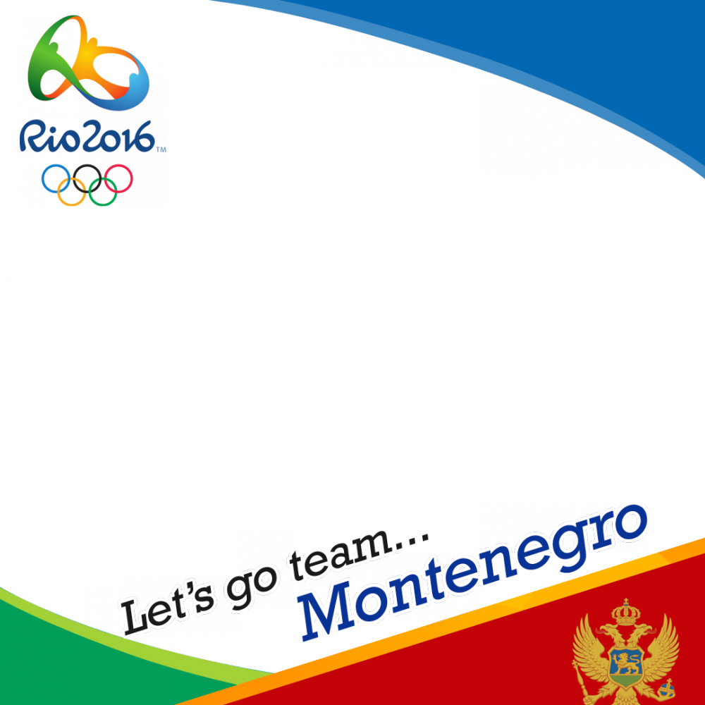 Montenegro Rio 2016 team profile picture overlay frame filter