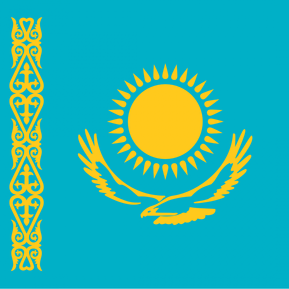 Kazakhstan flag profile picture overlay