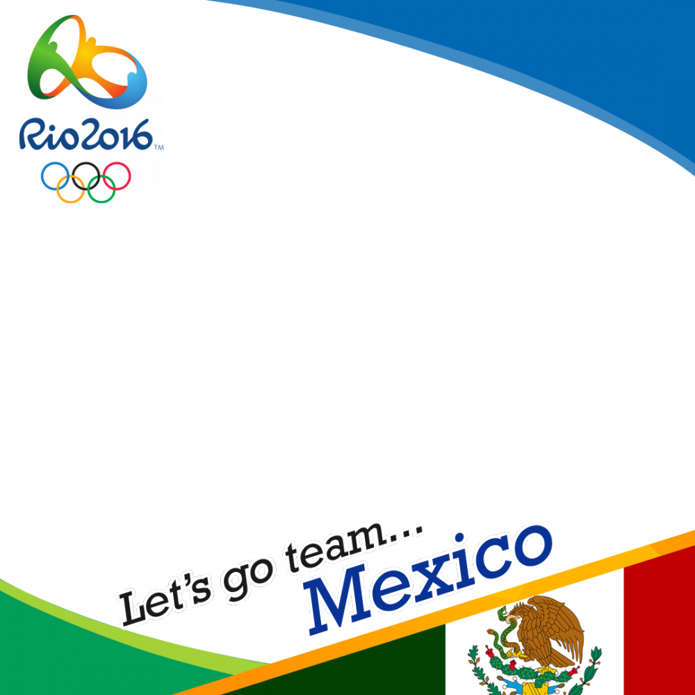 Mexico Rio 2016 team profile picture overlay frame filter
