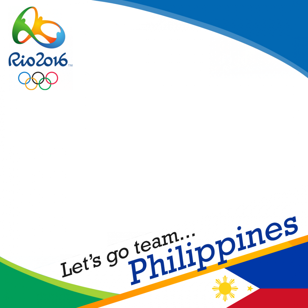 Philippines Rio 2016 team profile picture overlay frame filter