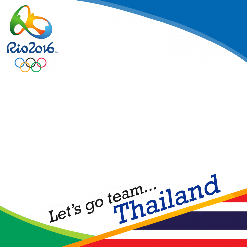 Thailand Rio 2016 team profile picture overlay frame filter