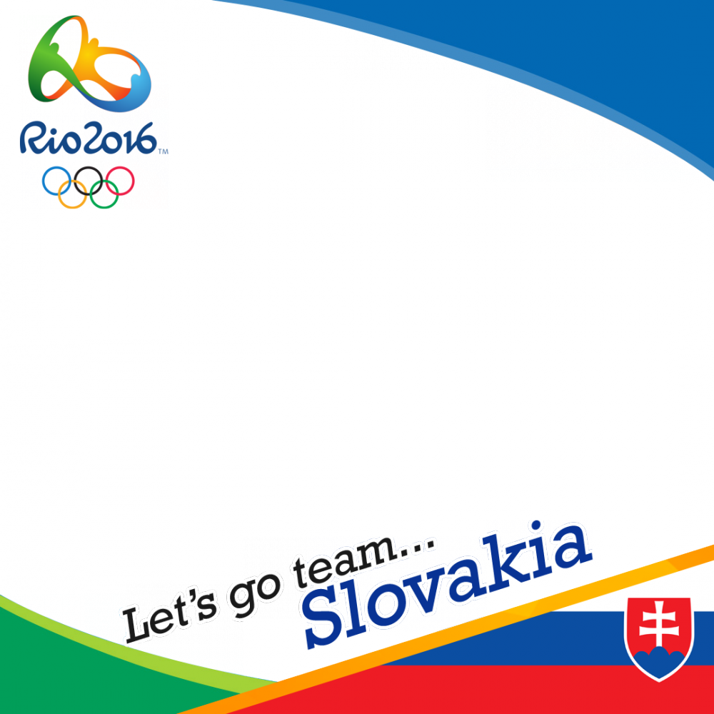 Slovakia Rio 2016 team profile picture overlay frame filter