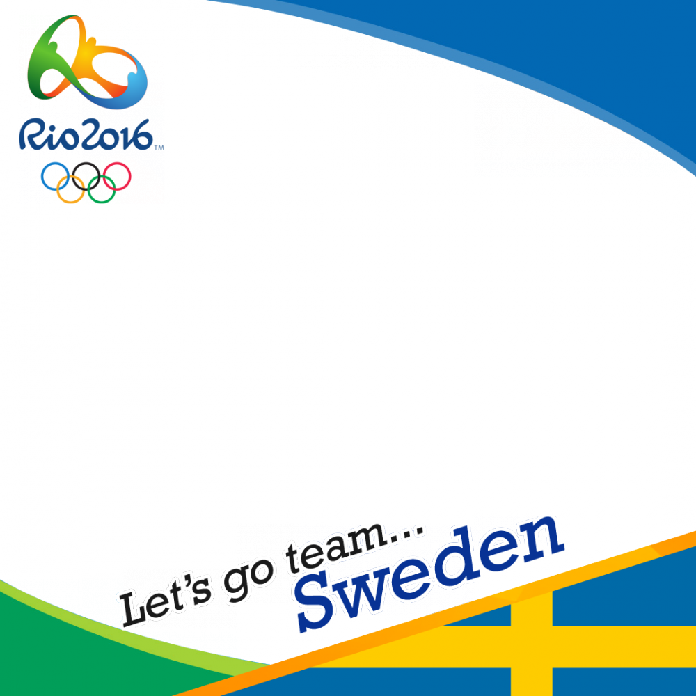 Sweden Rio 2016 team profile picture overlay frame filter