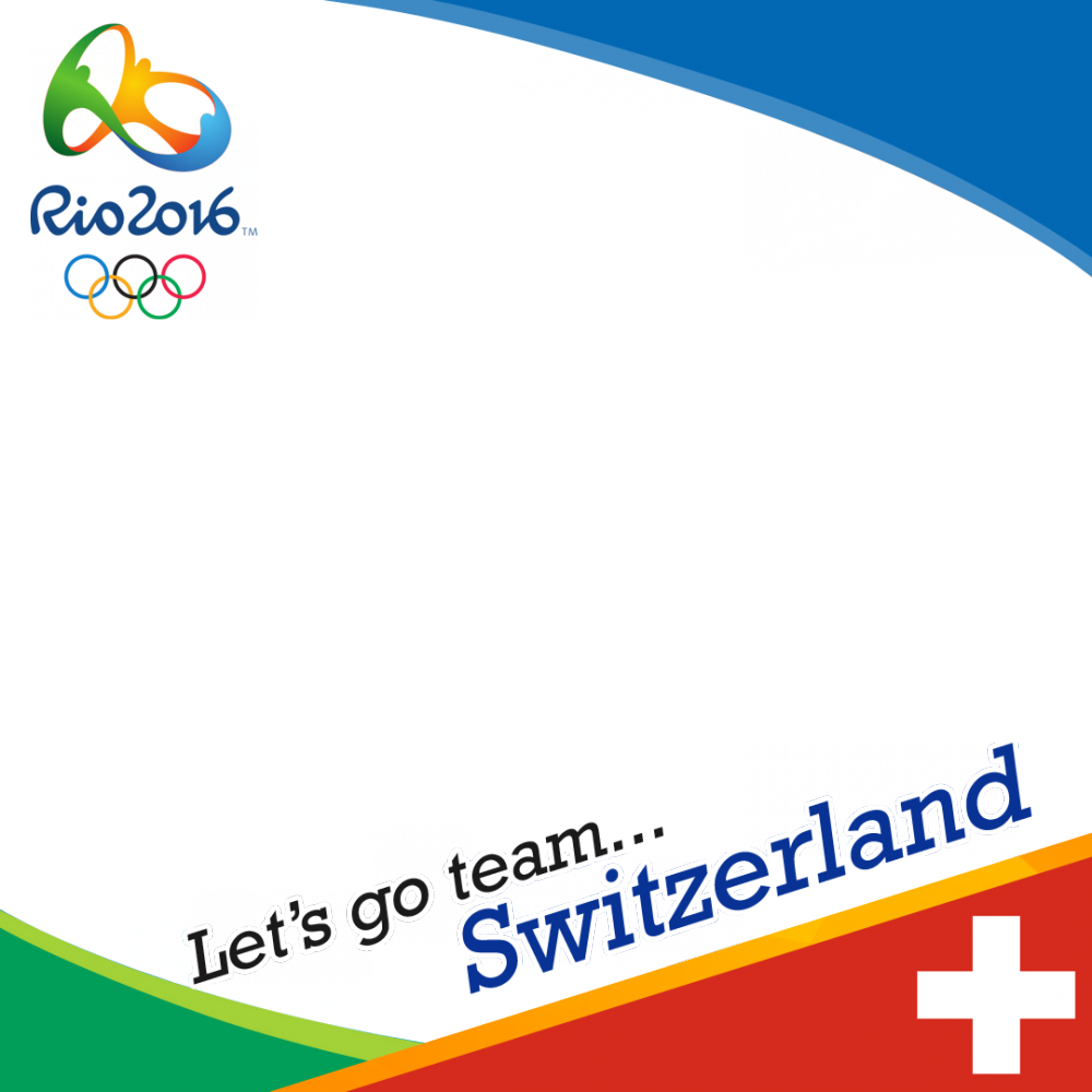 Switzerland Rio 2016 team profile picture overlay frame filter