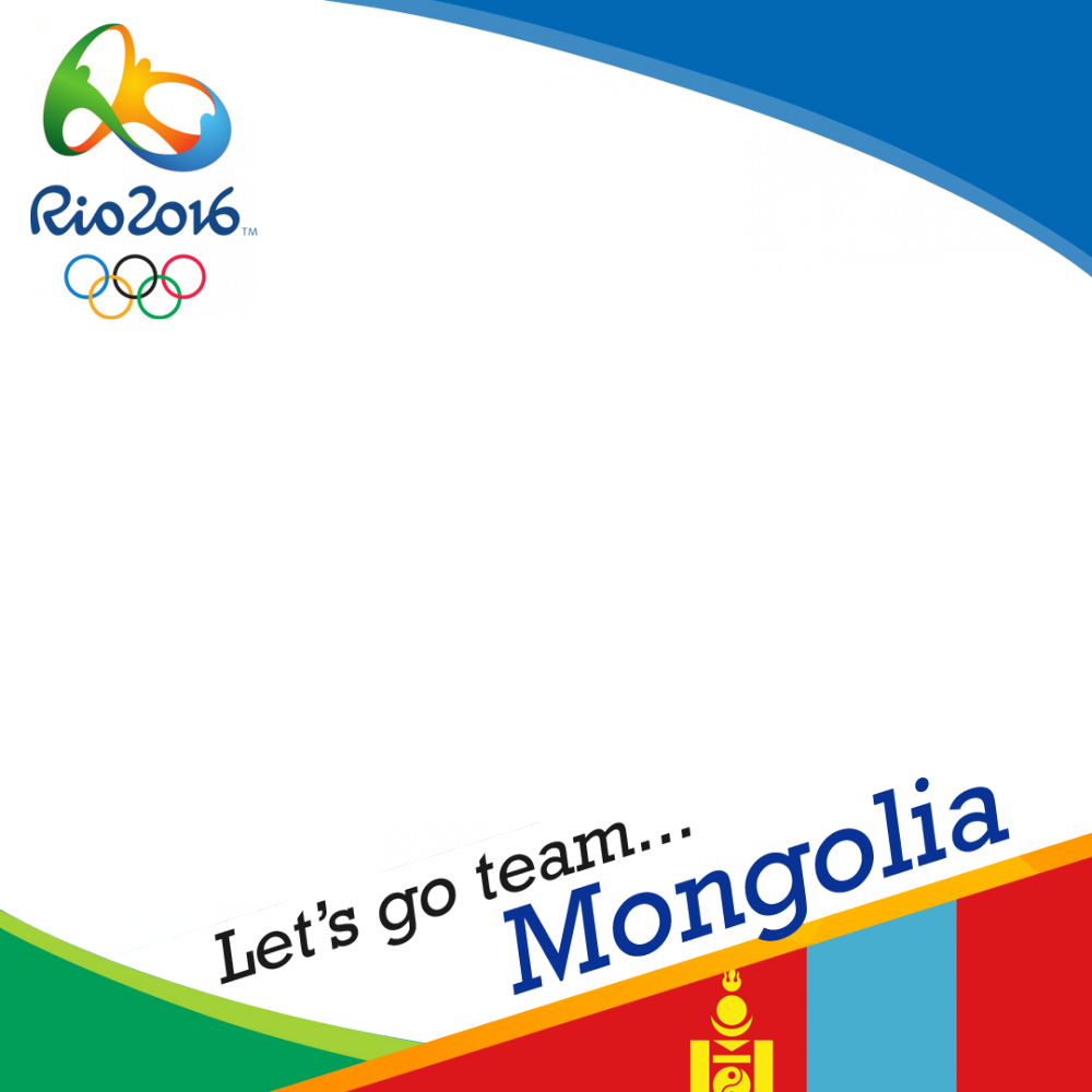 Mongolia Rio 2016 team profile picture overlay frame filter