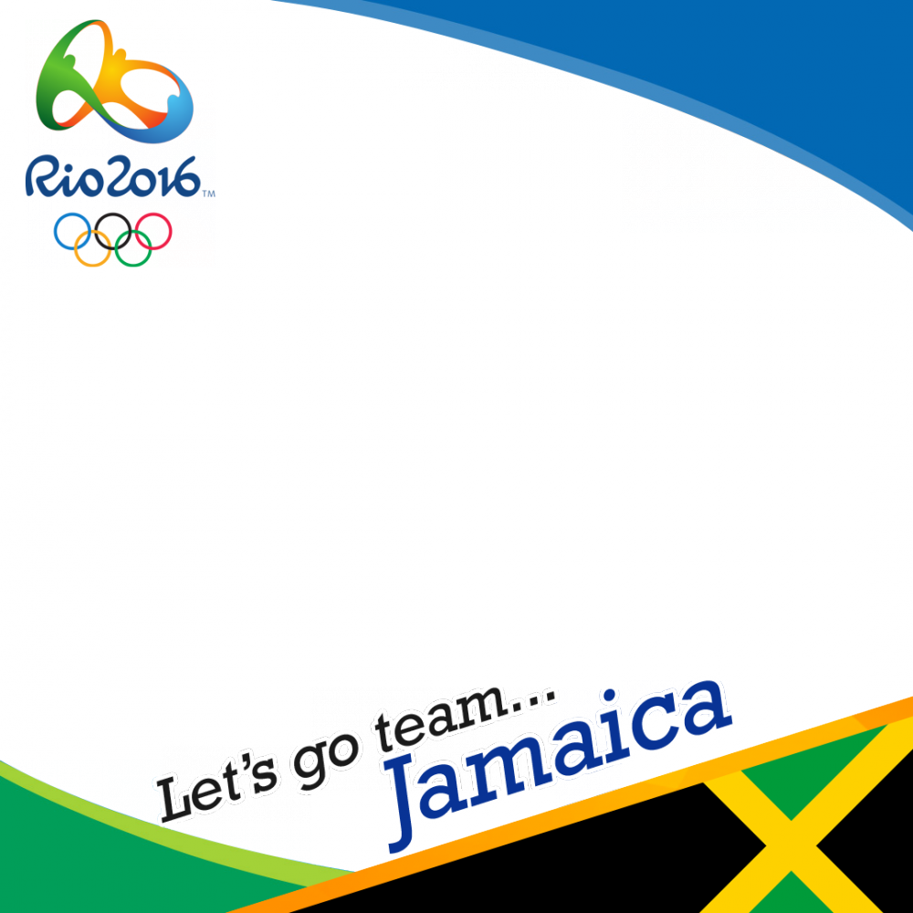 Jamaica Rio 2016 team profile picture overlay frame filter