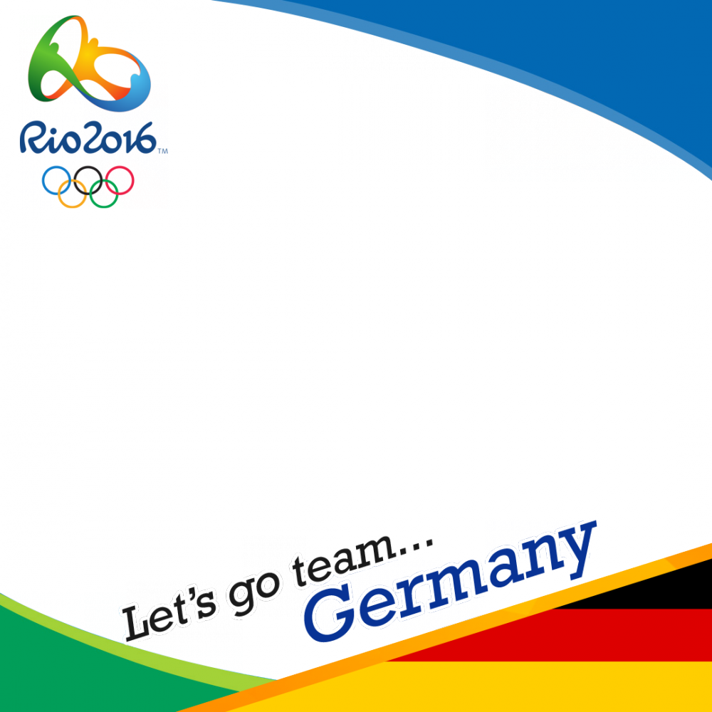 Germany Rio 2016 team profile picture overlay frame filter