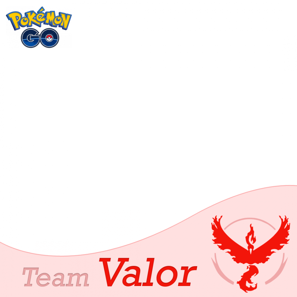 Team Valor Pokemon Go profile picture frame filter