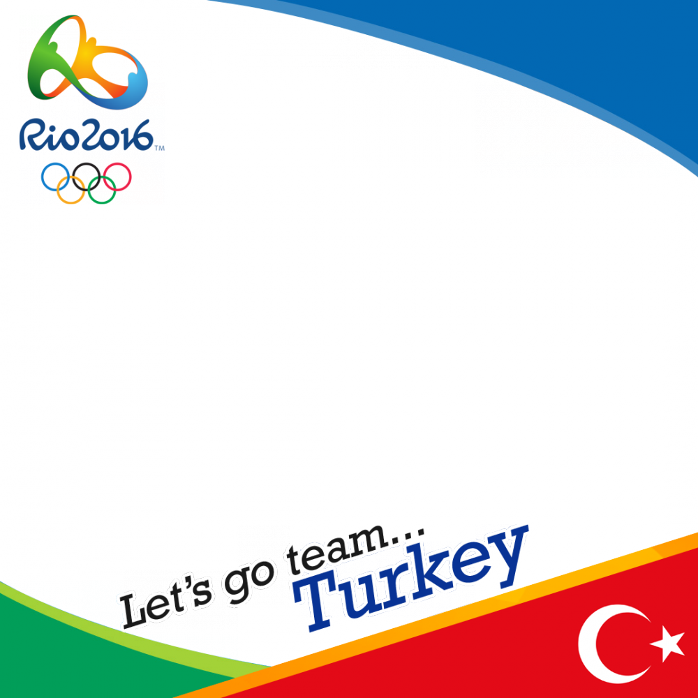 Turkey Rio 2016 team profile picture overlay frame filter