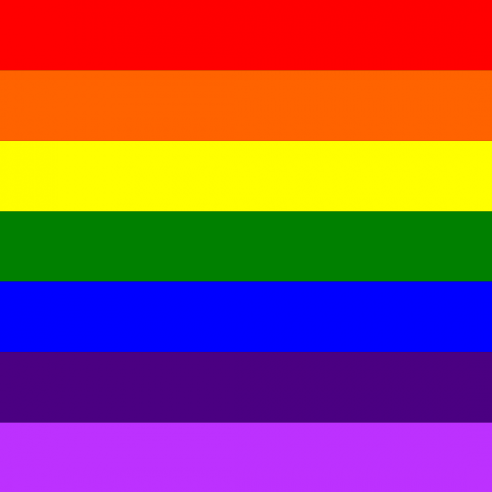 Gay Pride flag profile picture overlay