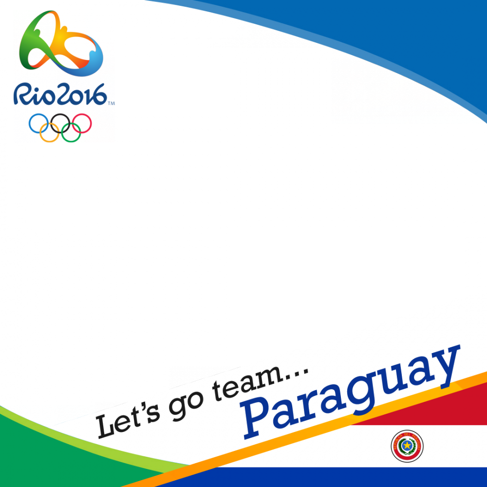 Paraguay Rio 2016 team profile picture overlay frame filter