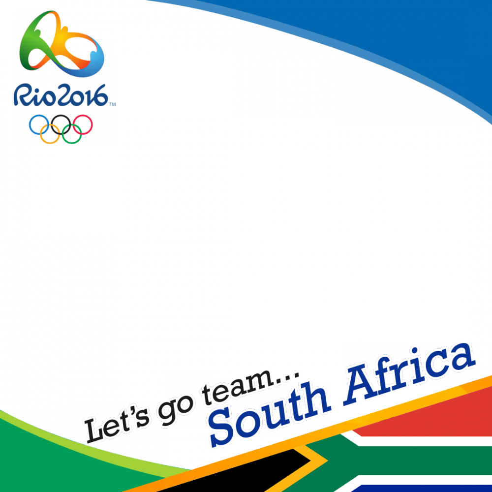 South Africa Rio 2016 team profile picture overlay frame filter