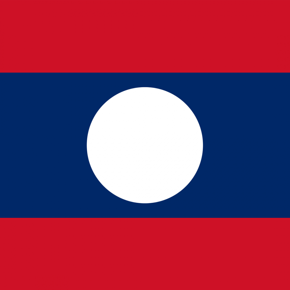 Laos flag profile picture overlay