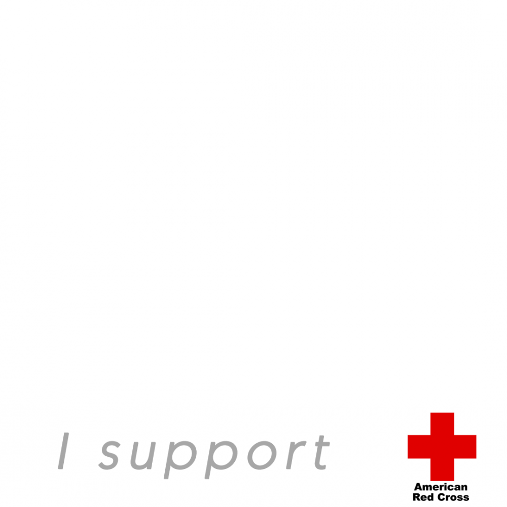I support  American Red Cross profile picture overlay frame filter