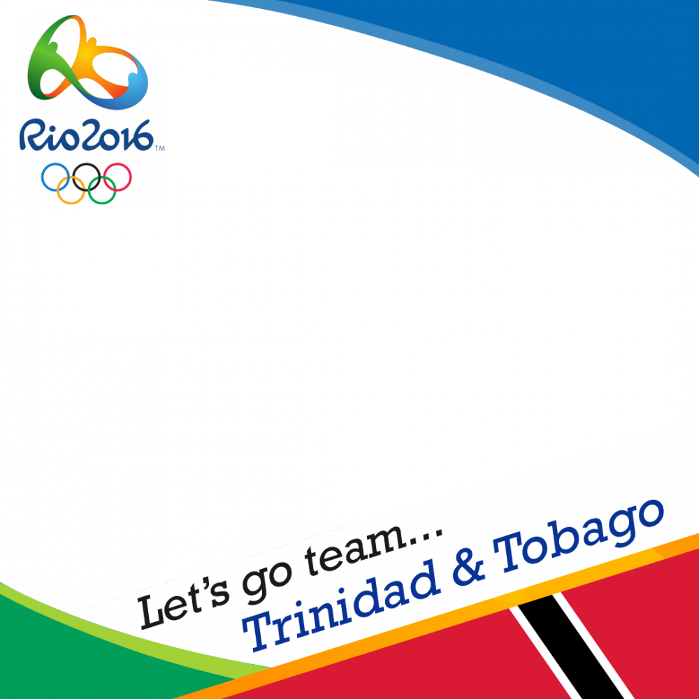 Trinidad & Tobago Rio 2016 team profile picture overlay frame filter