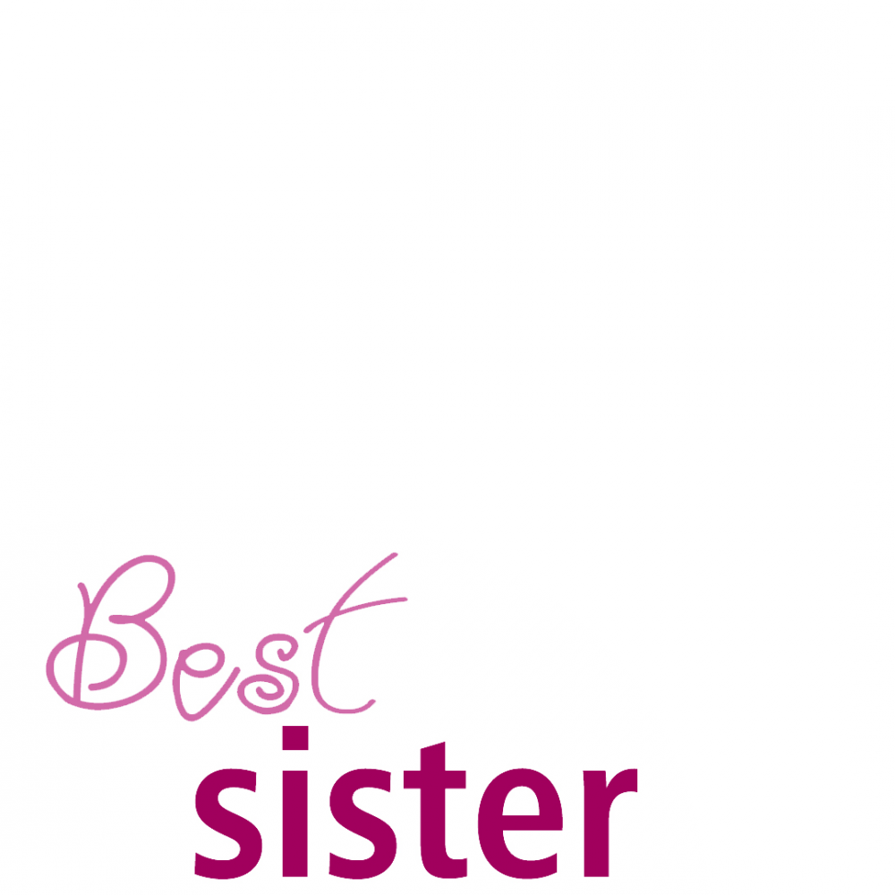 Best sister ever profile picture overlay frame filter