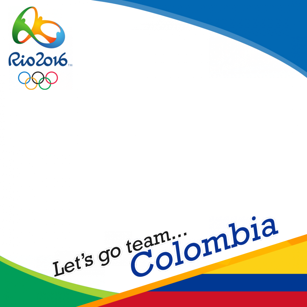 Colombia Rio 2016 team profile picture overlay frame filter