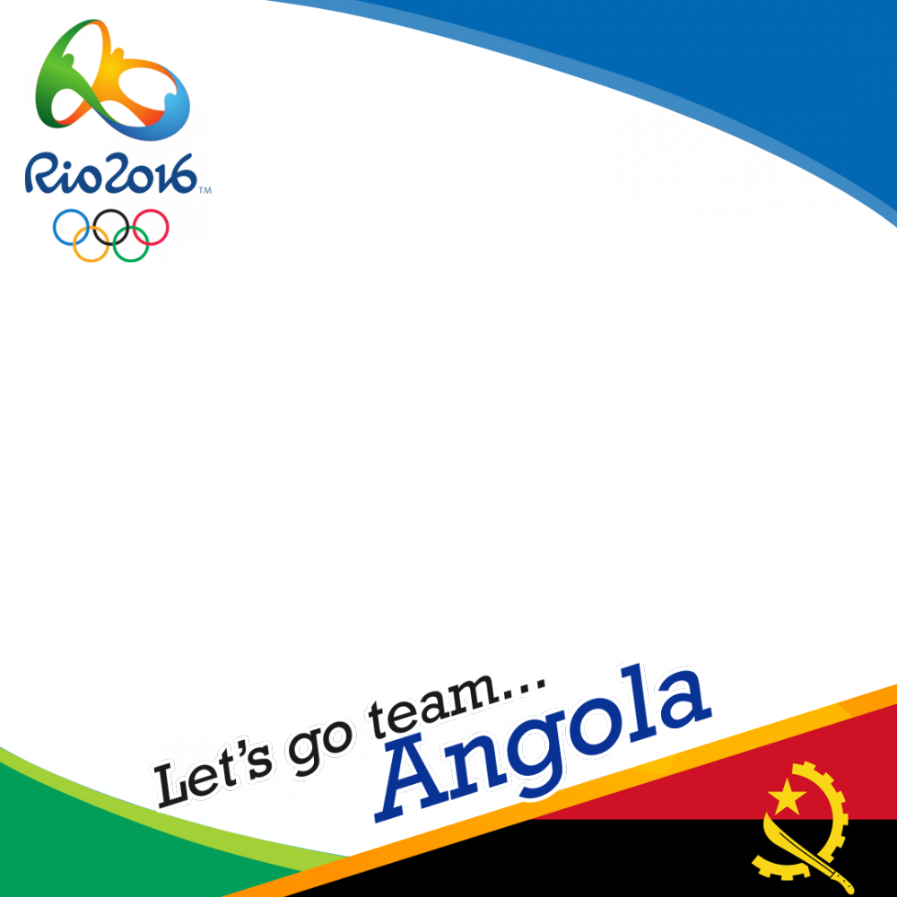 Angola Rio 2016 team profile picture overlay frame filter