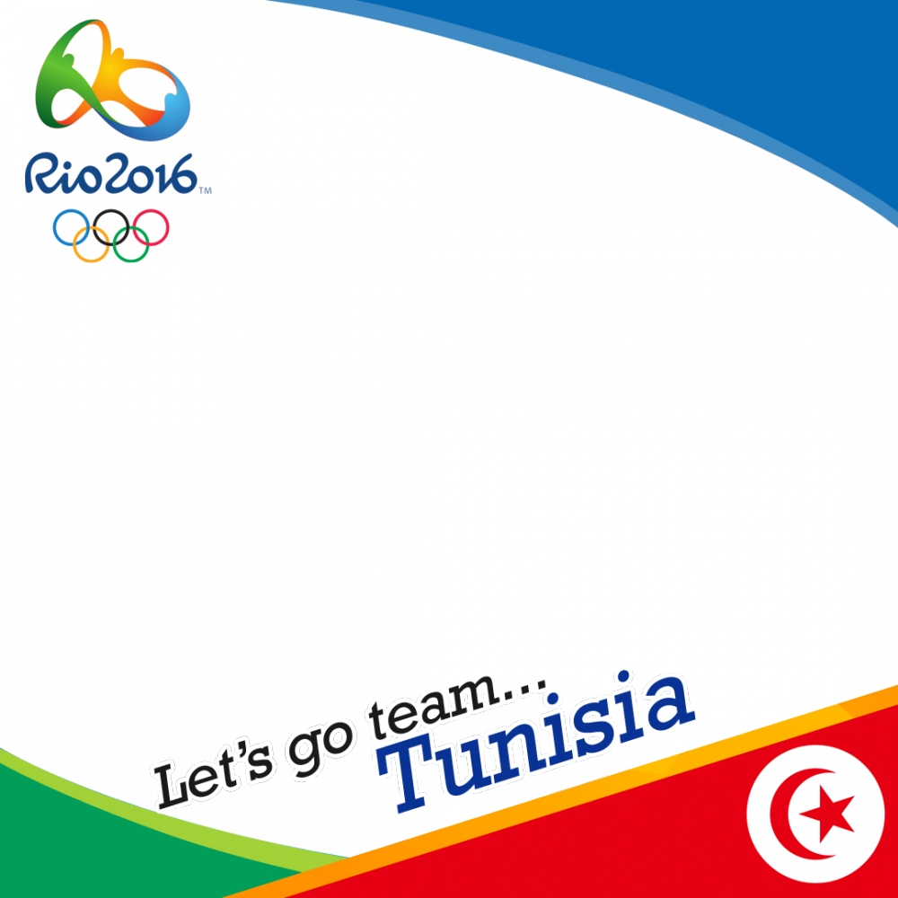 Tunisia Rio 2016 team profile picture overlay frame filter
