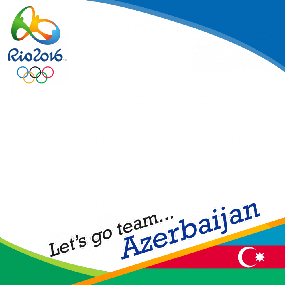 Azerbaijan Rio 2016 team profile picture overlay frame filter