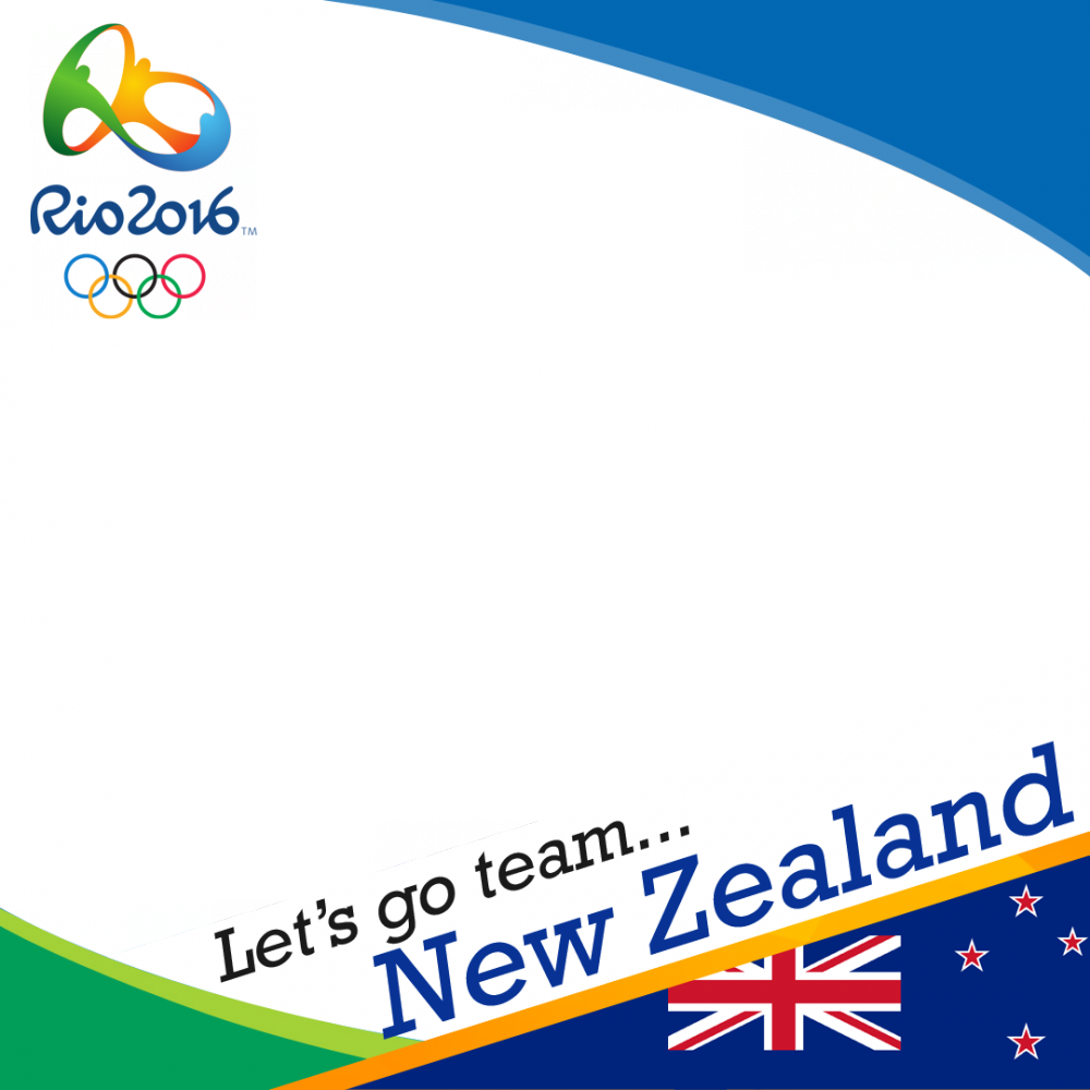New Zealand Rio 2016 team profile picture overlay frame filter