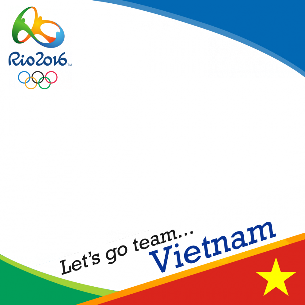 Vietnam Rio 2016 team profile picture overlay frame filter