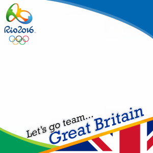 Great Britain Rio 2016 team profile picture overlay frame filter