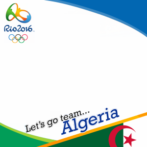 Algeria Rio 2016 team profile picture overlay frame filter