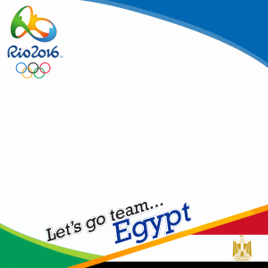 Egypt Rio 2016 team profile picture overlay frame filter