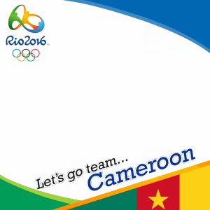Cameroon Rio 2016 team profile picture overlay frame filter