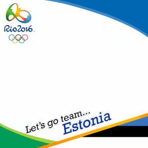 Estonia Rio 2016 team profile picture overlay frame filter