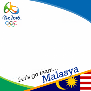 Malasya Rio 2016 team profile picture overlay frame filter