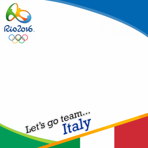 Italy Rio 2016 team profile picture overlay frame filter