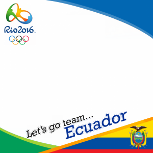Ecuador Rio 2016 team profile picture overlay frame filter