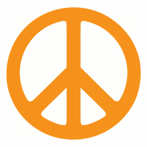 Peace sign profile picture overlay filter logo