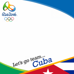 Cuba Rio 2016 team profile picture overlay frame filter