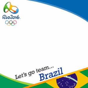 Brazil Rio 2016 team profile picture overlay frame filter