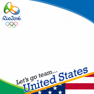 USA Rio 2016 team profile picture overlay frame filter