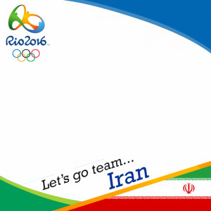 Iran Rio 2016 team profile picture overlay frame filter