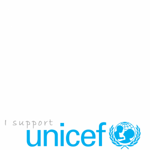 I Support Unicef profile picture overlay frame filter