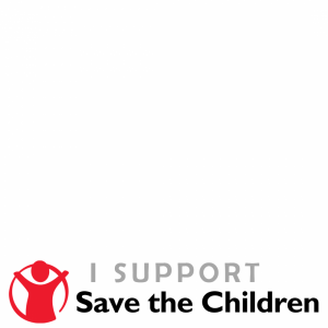 I support Save The Children profile picture overlay frame filter