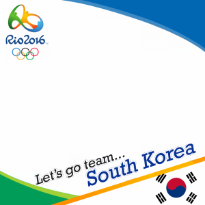 South Korea Rio 2016 team profile picture overlay frame filter