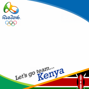 Kenya Rio 2016 team profile picture overlay frame filter