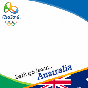 Australia Rio 2016 team profile picture overlay frame filter