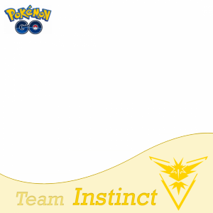 Team Instinct Pokemon Go profile picture frame filter