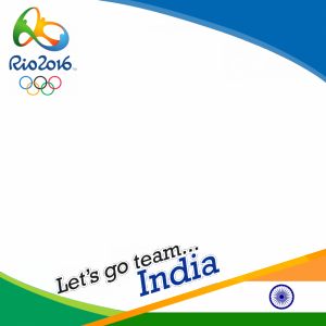 India Rio 2016 team profile picture overlay frame filter