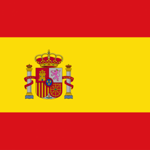 Spanish flag with emblem profile picture overlay