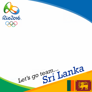 Sri Lanka Rio 2016 team profile picture overlay frame filter